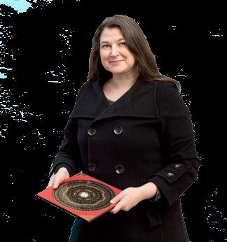 Astrid Glockner mit ihrem Luo Pan im Einsatz